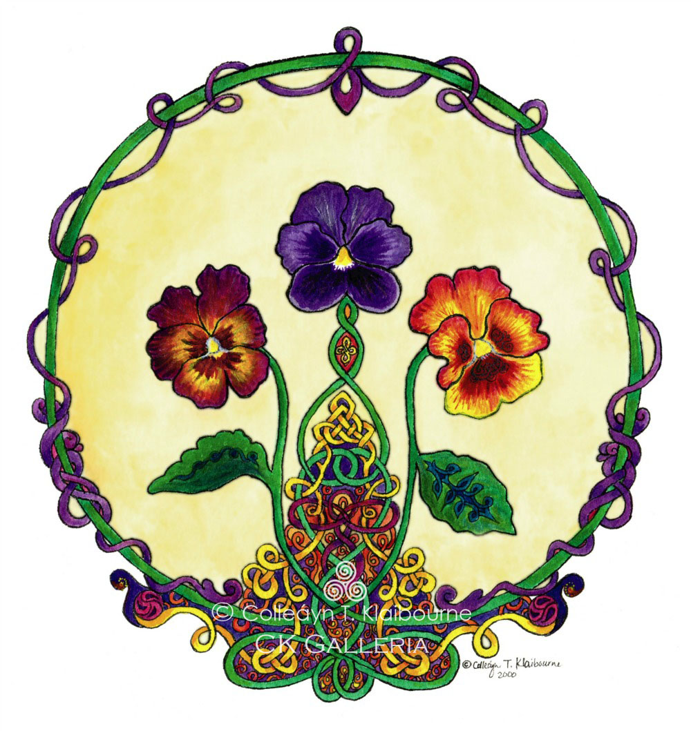Celtic Pansies watermark pm