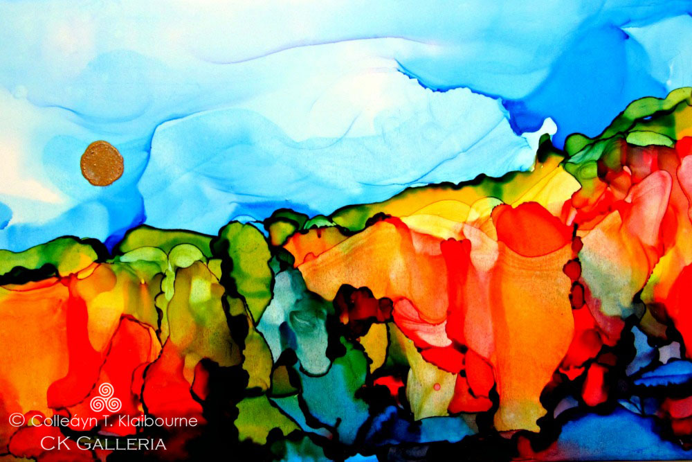 Alcohol Inks on Yupo Paper