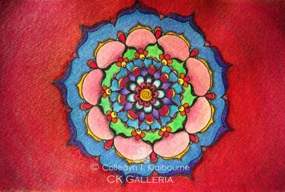 Red Background Mandala pm with watermark