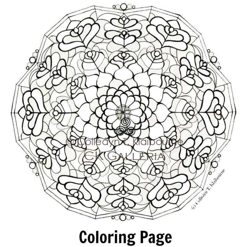 tibetan mandala coloring pages - photo#28
