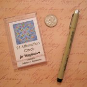Affirmation cards with pen pm