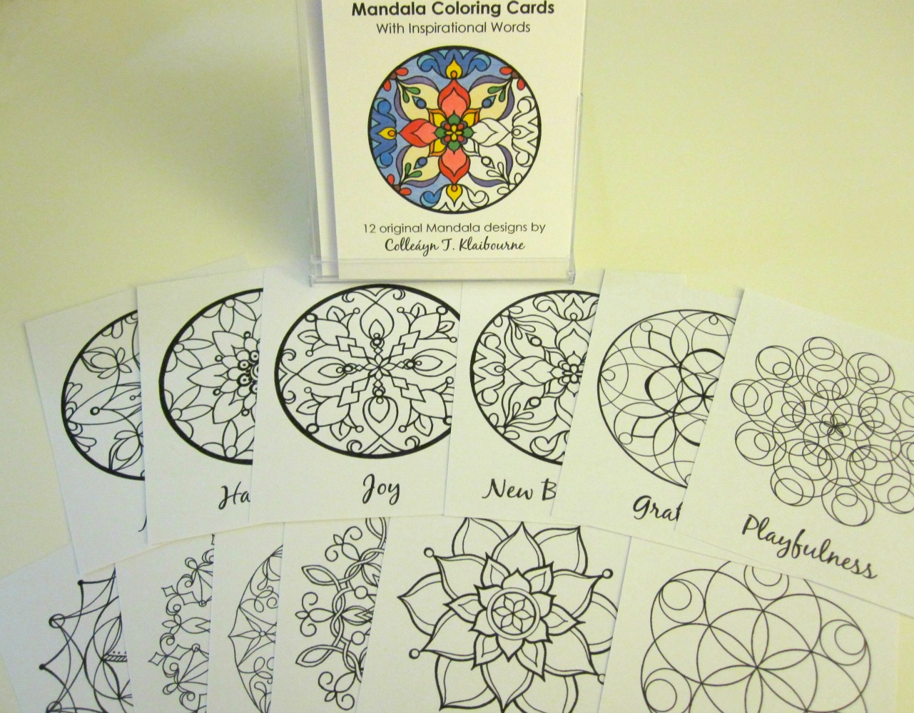 12 Mandala Coloring Cards for Adults and Kids - CK Galleria
