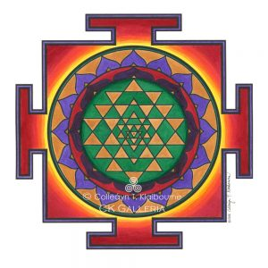 Sri Yantra Mandala cleaned up with copyright