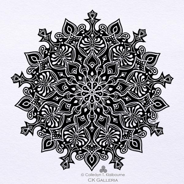 2. Mandala Print, PDF Digital Download, Inktober Day 23