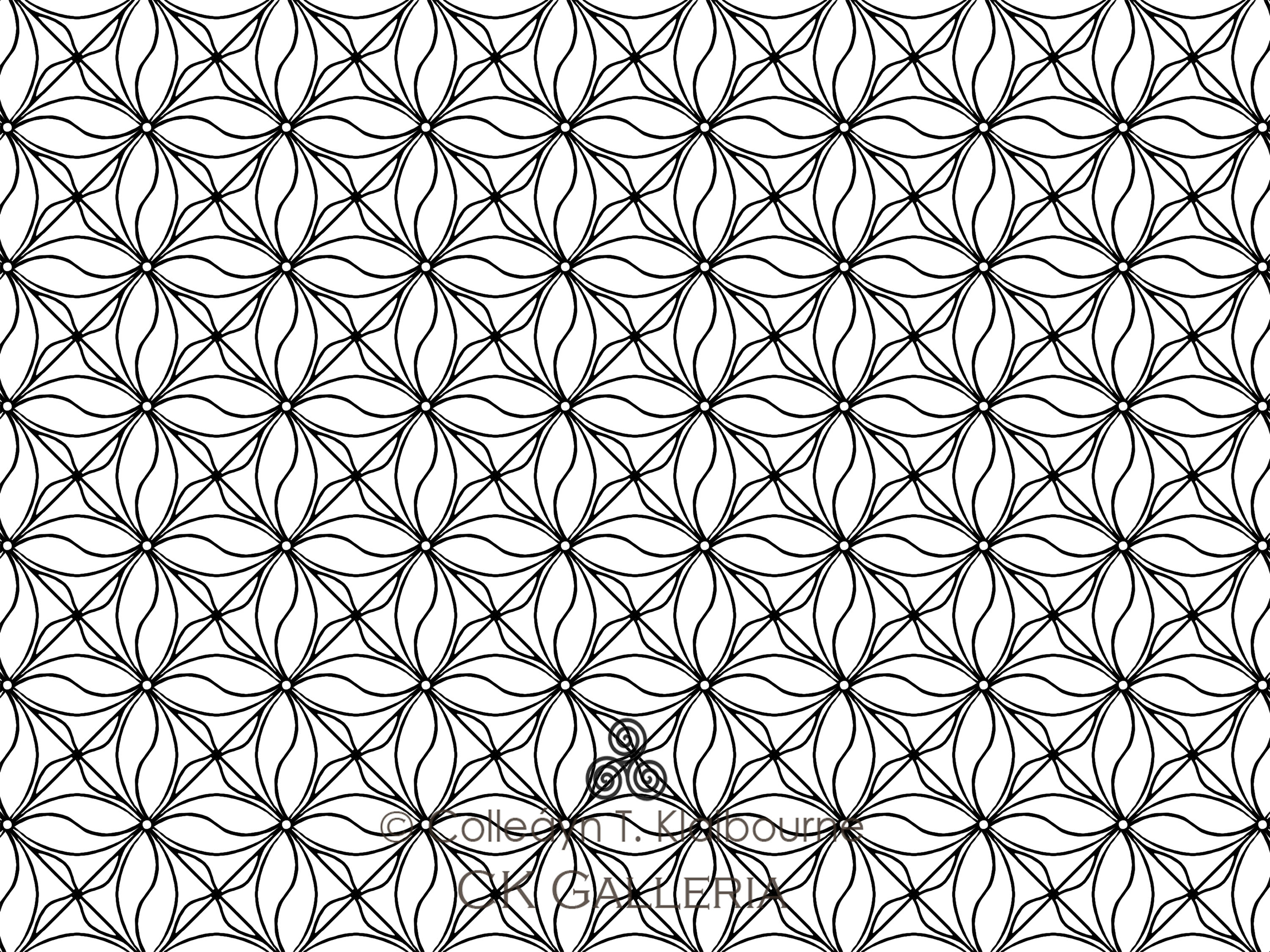 70+ Geometric Coloring Pages To Print And Customize | 2250x3001