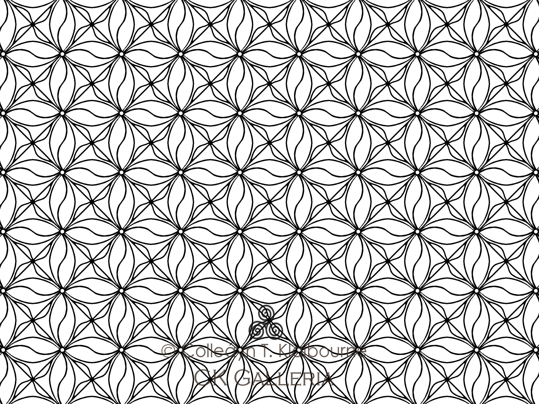 Geometric Design Coloring Pages Pdf : Geometric design pdf digital download coloring page