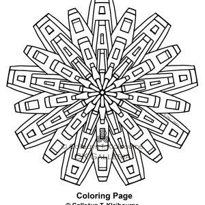 A Mandala PDF Digital Download Coloring Page Metropolis