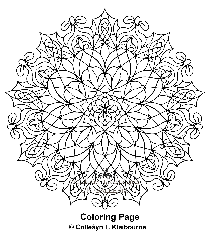 A Mandala PDF Digital Download Coloring Page, Movement