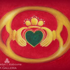 Claddagh in Red